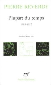 Cover of: Plupart du temps