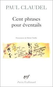Cover of: Cent Phrases pour Eventails