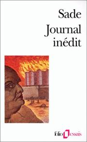 Cover of: Journal Inedit