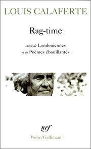 Cover of: Rag-time: poèmes.