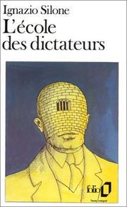 Ignazio silone open library cover of lecole des dictateurs fandeluxe Images
