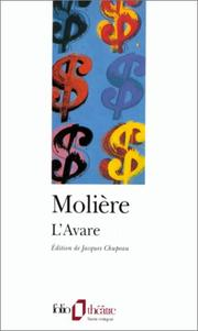 Cover of: L'Avare by Molière, Jacques Chupeau