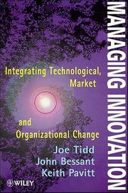 Cover of: Managing innovation | Joseph Tidd