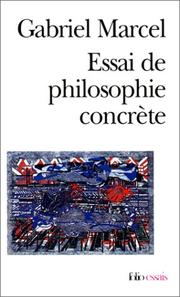 Cover of: Essai De Philosophie