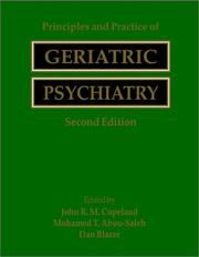 Cover of: Principles and practice of geriatric psychiatry |