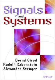 Cover of: Signals and Systems | Bernd Girod