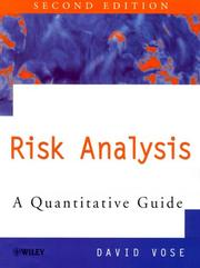Cover of: Risk analysis