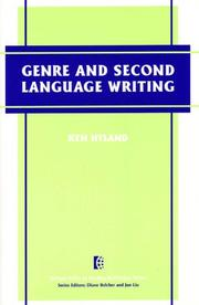 Cover of: Genre and second language writing