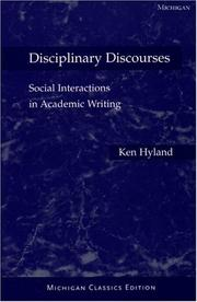 Cover of: Disciplinary discourses