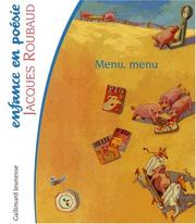 Cover of: Menu, menu