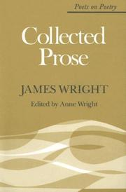 Cover of: Collected prose