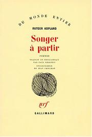 Cover of: Songer à partir