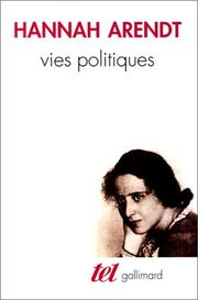 Cover of: Vies politiques