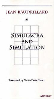 Cover of: Simulacra and simulation