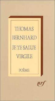 Cover of: Je te salue Virgile