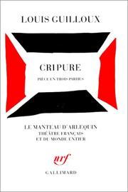 Cover of: Cripure Piece En Trois Parties