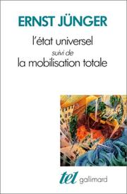 Cover of: L'Etat universel
