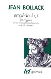 Cover of: Empédocle