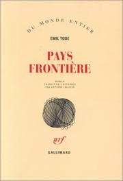 Cover of: Pays frontière