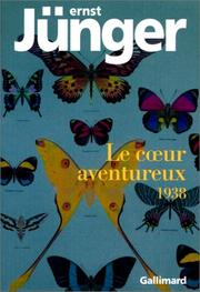Cover of: Le coeur aventureux, 1938