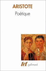 Cover of: Poétique
