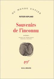 Cover of: Souvenirs de l'inconnu