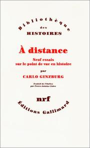 Cover of: A distance