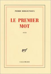 Cover of: Le Premier Mot