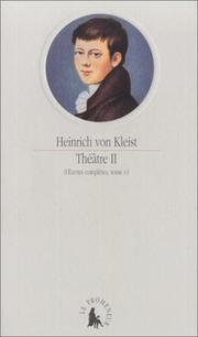 Cover of: Théâtre II (Œuvres complètes, tome IV)