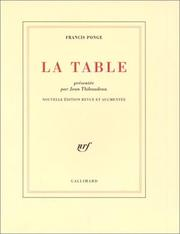 Cover of: La Table