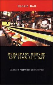 Cover of: Breakfast Served Any Time All Day | Donald Hall - undifferentiated
