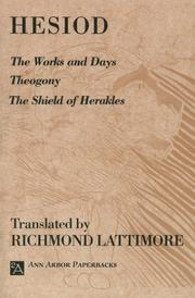 Cover of: The Works and Days; Theogony; The Shield of Herakles
