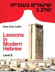 Cover of: Lessons in Modern Hebrew | Edna Amir Coffin