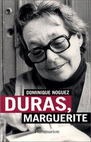 Cover of: Duras, Marguerite