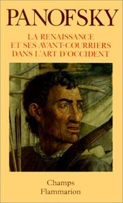 Cover of: La Renaissance et ses avant-courriers dans l'art d'Occident