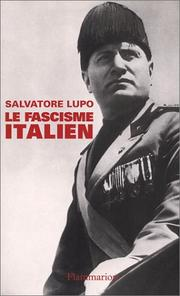 Cover of: Le Fascisme italien