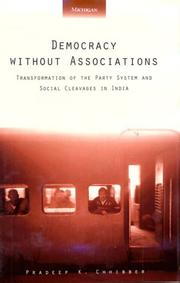 Cover of: Democracy without associations