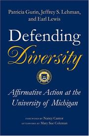 Cover of: Defending diversity by