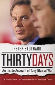 Cover of: Thirty Days | Peter Stothard