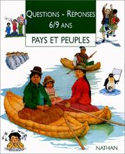 Cover of: Pays et peuples