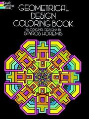 Cover of: Geometrical Design Coloring Book | Spyros Horemis
