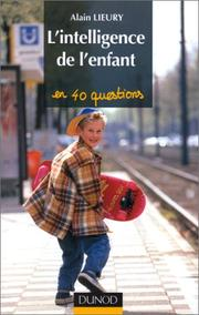 Cover of: L'intelligence de l'enfant