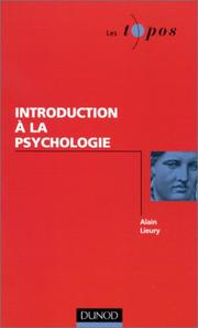 Cover of: Introduction à la psychologie