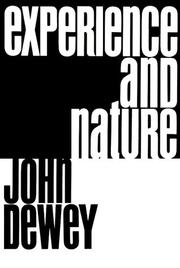Cover of: Experience and nature