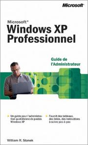 Cover of: Microsoft Windows XP Profesionnel: Guide de l'administrateur