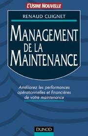 Cover of: Management de la maintenance