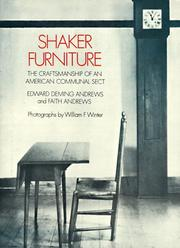 Shaker furniture by Edward Deming Andrews