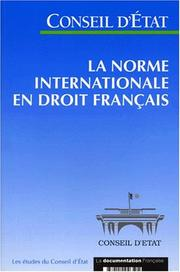 Cover of: La Norme internationale en droit français