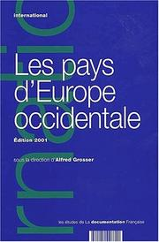 Cover of: Les pays d'europe occidentale édition 2001