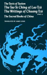 Cover of: Texts of Taoism (Volume 1)